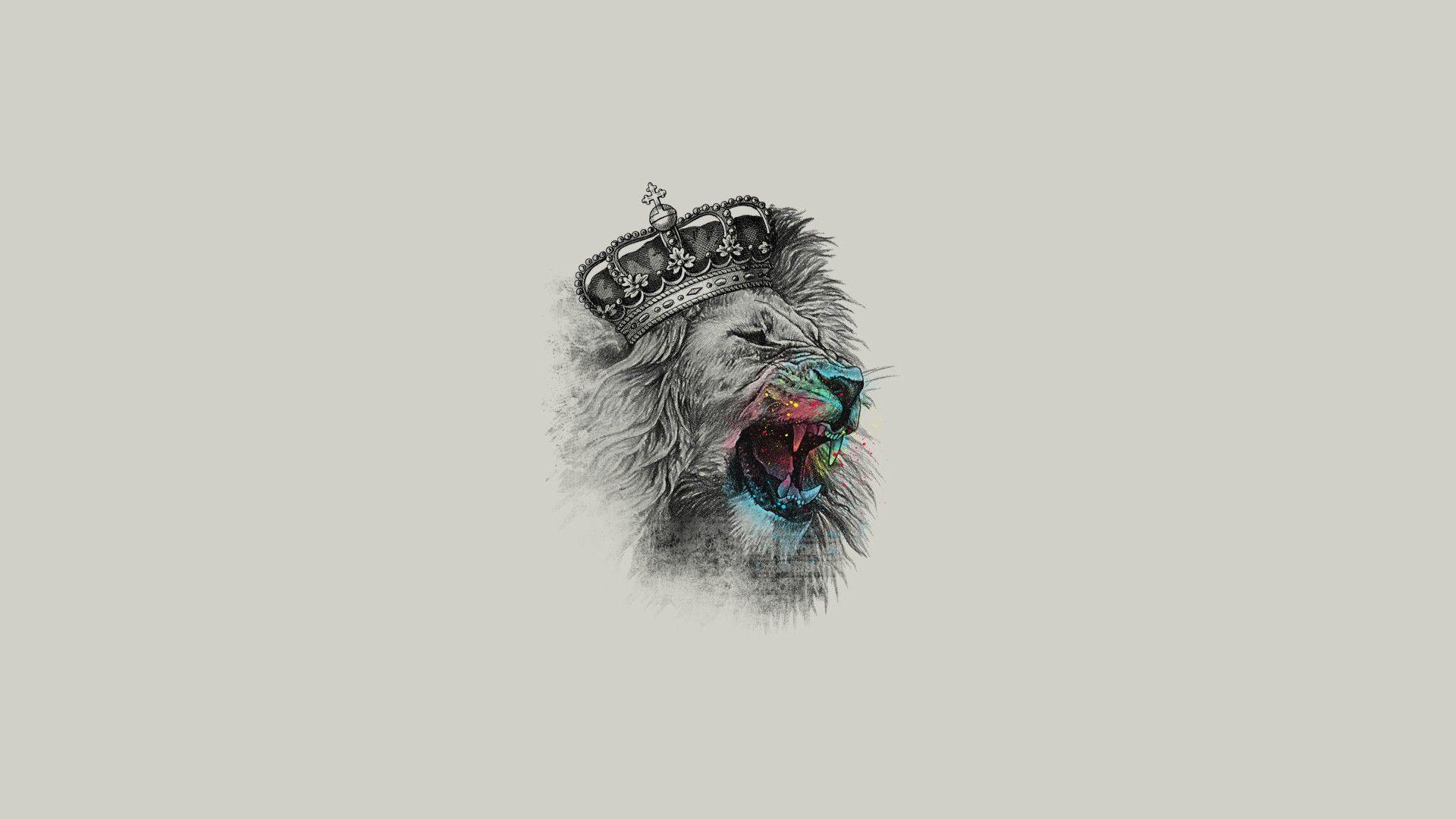 King Of The Jungle 1920x1080 Lion Artwork Fantasy Art Lion Hd Wallpaper
