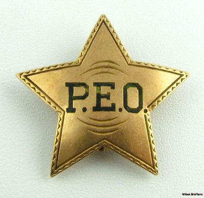 Plain Yellow Star pin badge
