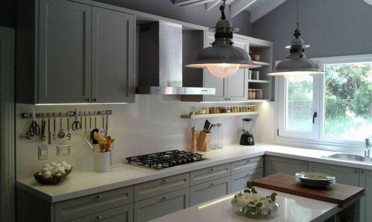 Cocina muebles grises | Interiores grises | Pinterest | Muebles ...
