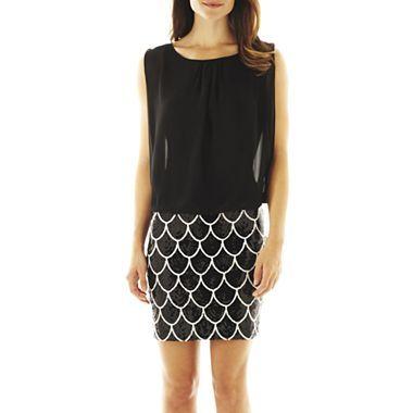 Scarlett Print Blouson Dress - jcpenney