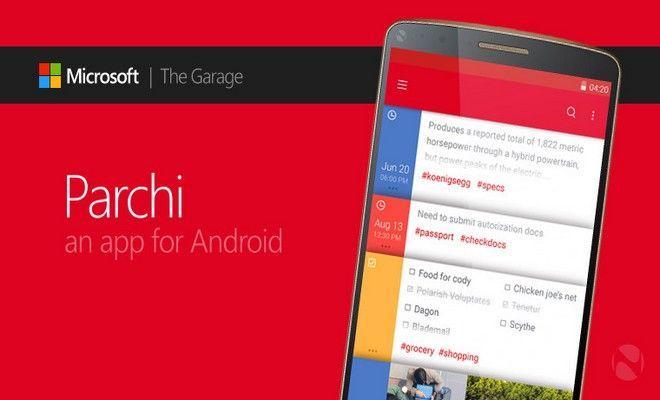 Microsoft Lanza Una Aplicación para Crear Notas Llamada Parchi