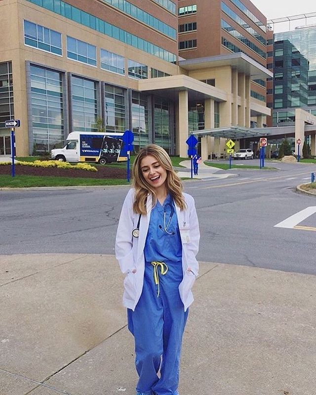 "#BabesInScrubs on Instagram: ""✨✉️Babe Mail✉️✨ @saharbarz Medical student at WVU! Got to scrub in on a heart cath today, and let's just say it made the misery of…"" #medicalstudents"