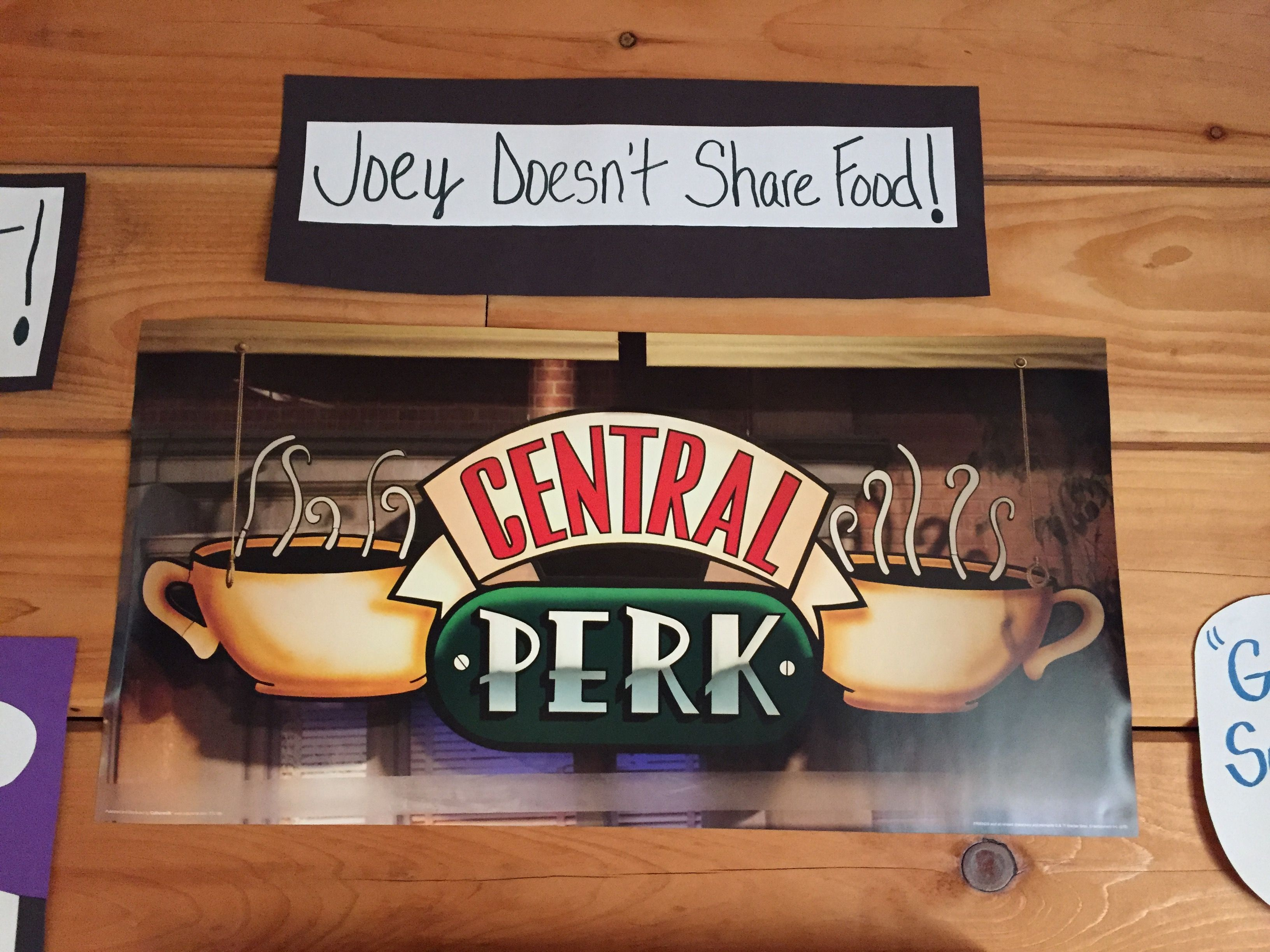 Central Perk logo poster Central perk logo, Friends tv