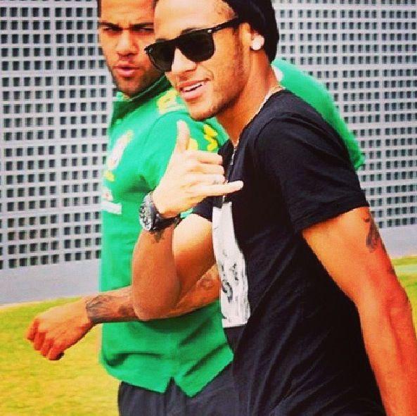 Neymar Jr and Dani Alves