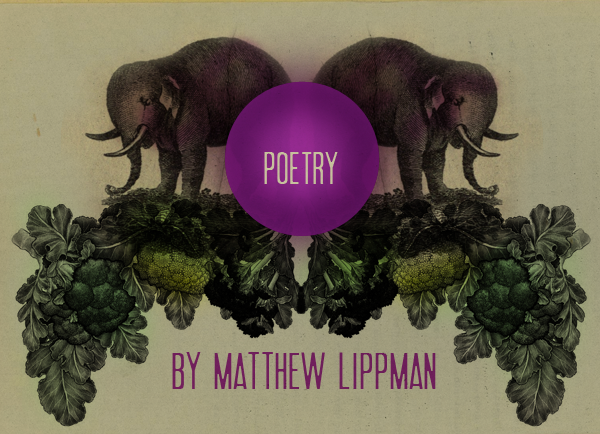 """""""the only way to get away from her love / was to try and make it to Maui / in the three days before midnight"""" - Matthew Lippman, """"In the Broccoli Shop,"""" published in Paper Darts"""