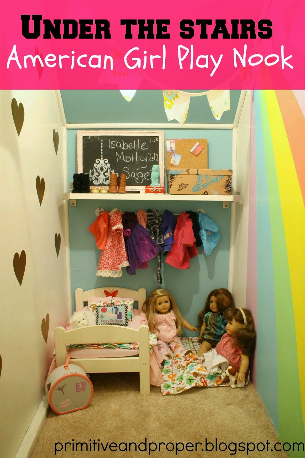 Awesome American Girl Nook With Rainbow And Gold Vinyl