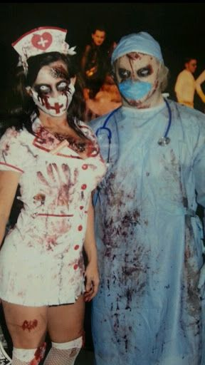 couples costume bloody nurse and doctor