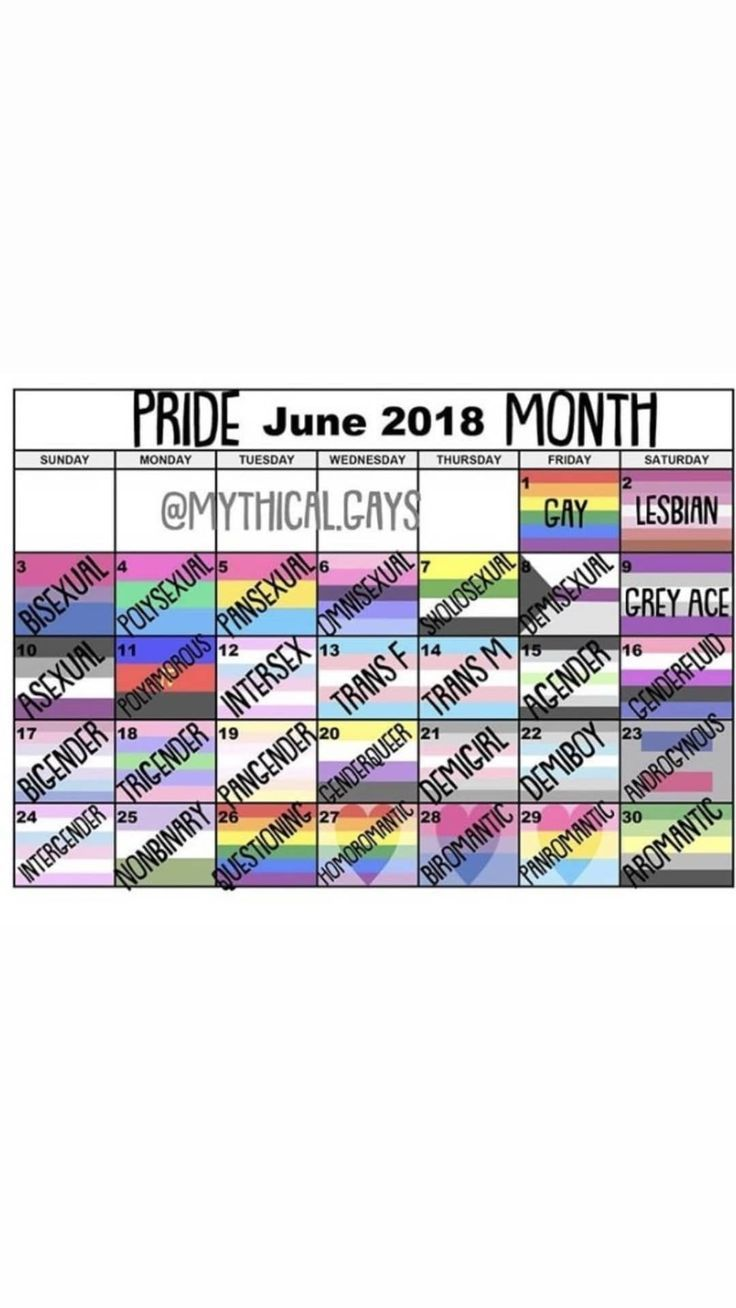 Okay let me tell you why I hate this. Pride is for EVERYONE, EVERY day of June. This stupid ass calender only divides us more, no one needs a day for each specific gender/sexuality, we should all come together and celebrate pride month as a whole We are want to say thanks if you like to share...