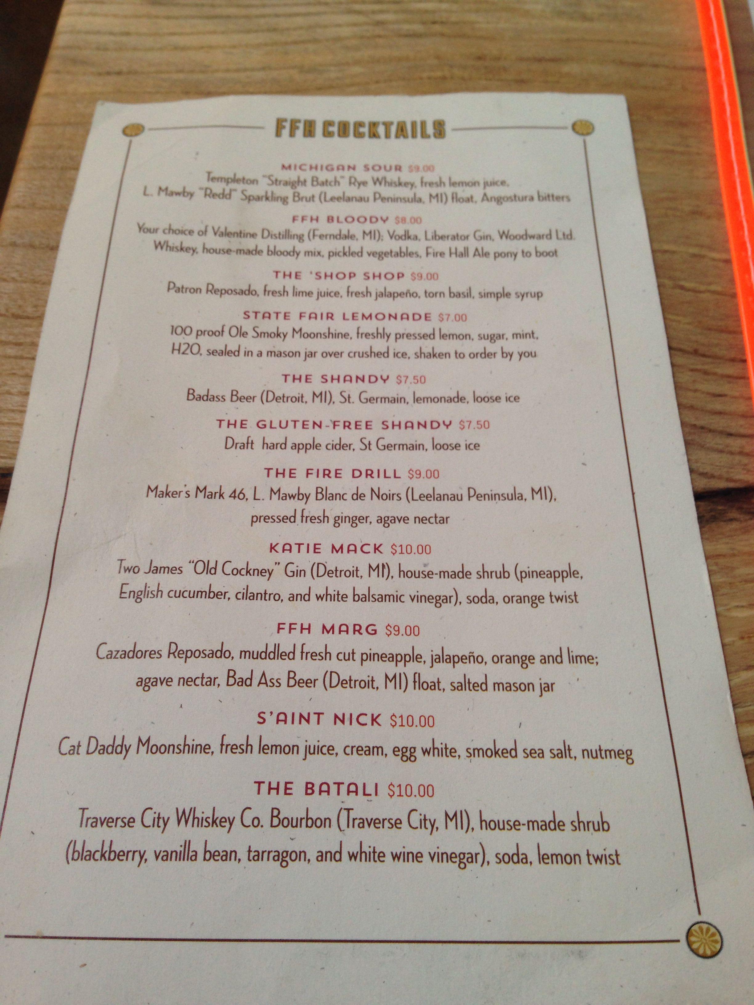 fenton fire hall cocktail list restaurant menus fenton fire hall cocktail list restaurant menus fire cocktails and cocktail list