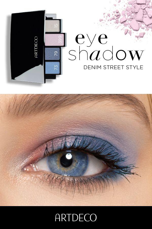 Photo of Lidschatten Look für blaue Augen – blau, pink und grau für Denim Street Style