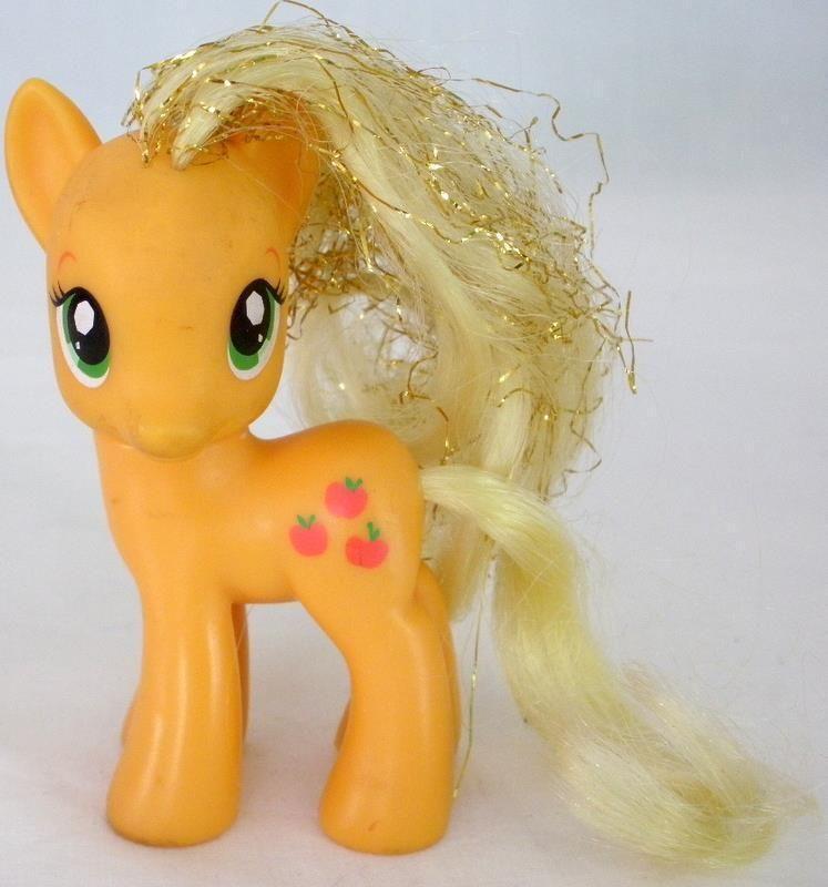 2010 Hasbro G4 My Little Pony Applejack Friendship Is Magic Figure - Tinsel Hair #Hasbro