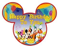 Happy Birthday Disney Characters With Images Happy Birthday