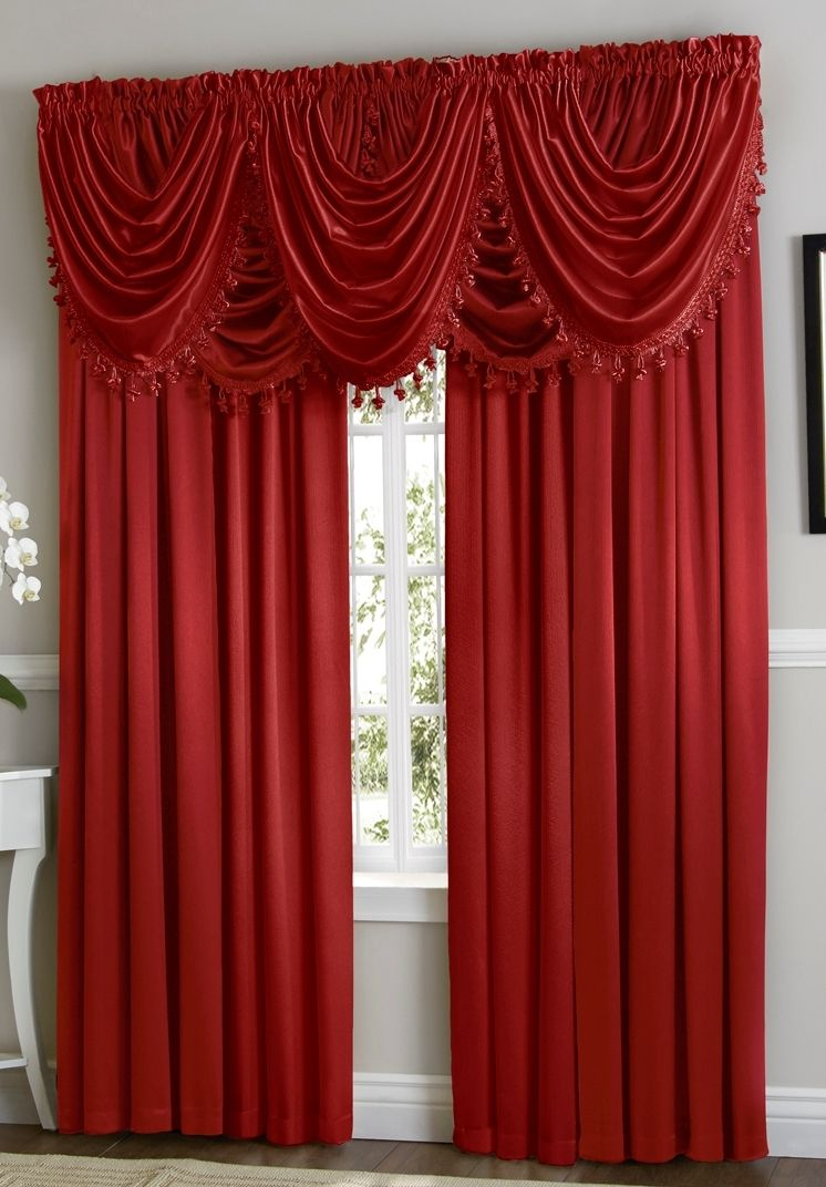 Red Hyatt Curtain Set Moshells Curtains Home Theater Decor