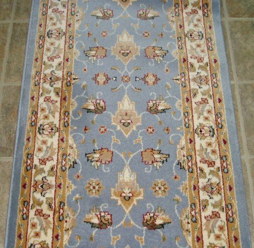 101214 Rug Depot Traditional Oriental Hall Runner Remnant 26 X 16 Light Blue Background Dynamic Royal Area Rug Pad Blue Hallway Light Blue Background
