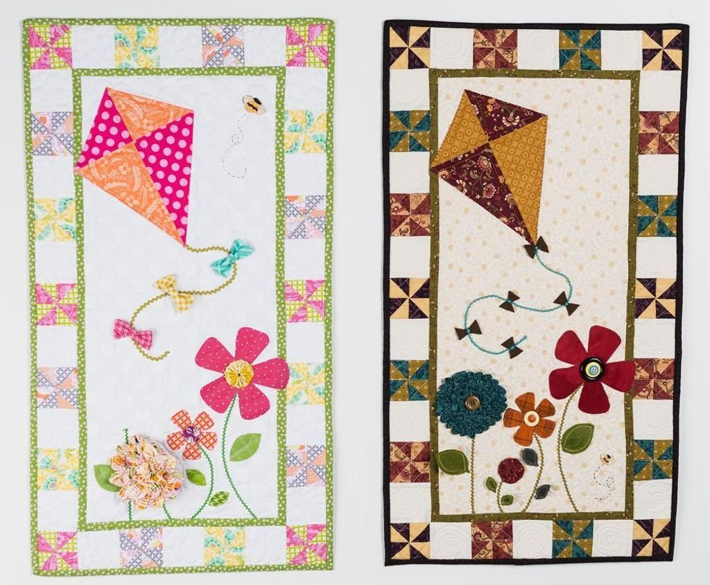 Playful Textures for Easy Appliqué Quilts | Kites, Quilts online ... : kite quilt pattern - Adamdwight.com
