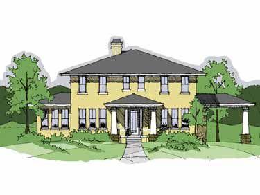 4 bedroom, 3,200 sq ft, prairie style home.