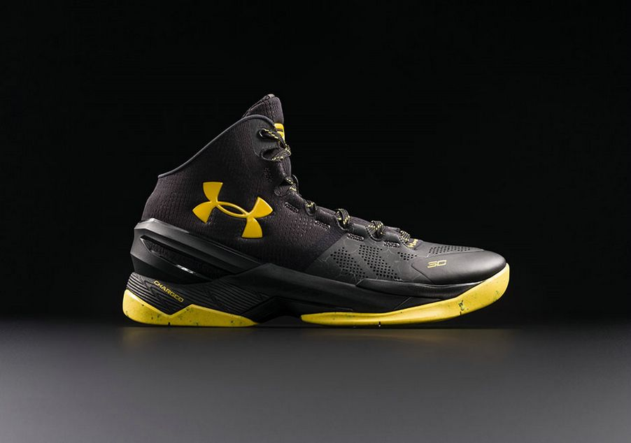pretty nice af4bc 99fe7 Under Armour Curry 2 Black Knight Black/Yellow | Under ...