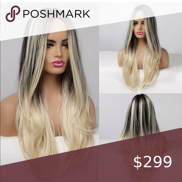 New Ombre Dark To Blonde Woman S Wig In 2020 Long Straight Hair Long Hair Styles Fake Hair