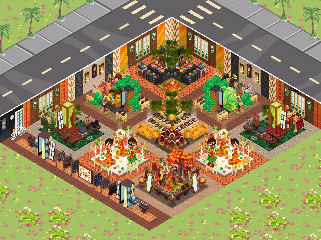 Fall decor in Fashion Story Game