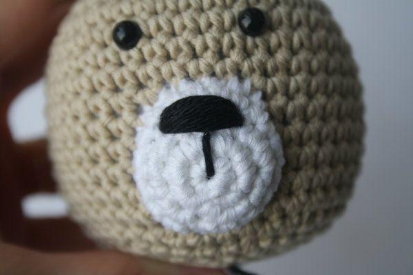 Amigurumi Bear Nose : How to stitch teddy bear nose tutorial amigurumi freee