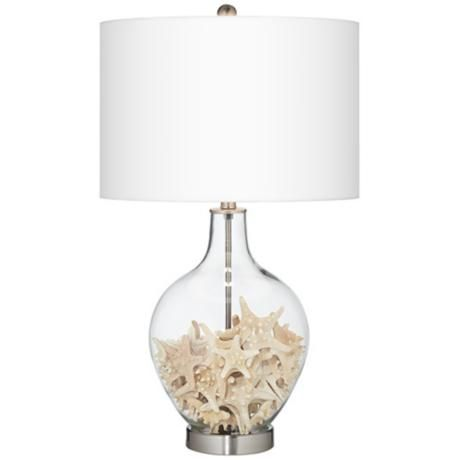 Fillable Clear Glass Ovo Table Lamp