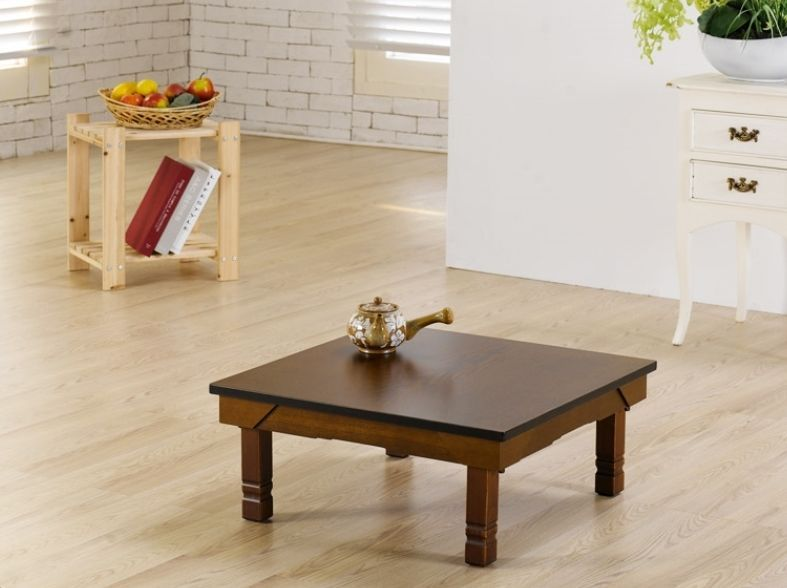Asian Floor Table Wooden Japanese Coffee Tea Tables Foldable