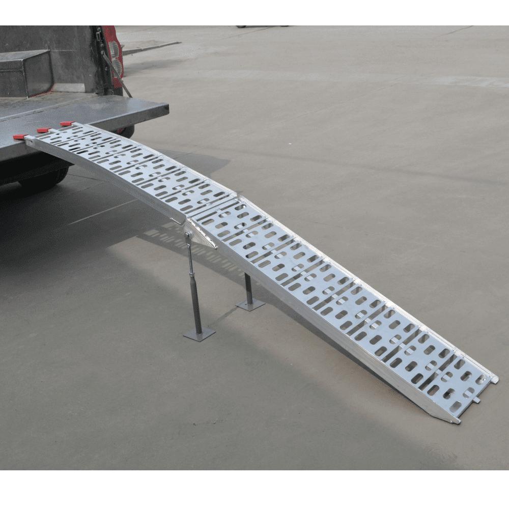 Heeve 2.3m x 450kg Aluminium Curved Folding Loading Ramp