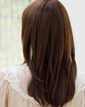 long straight hairstyles back view Google Search