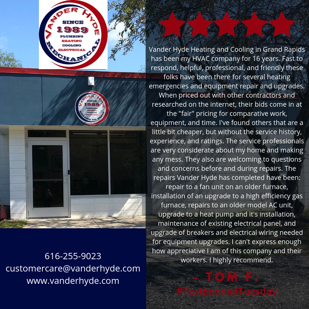 Thank You For Your Review Tom F Testimonialtuesday Vanderhyde
