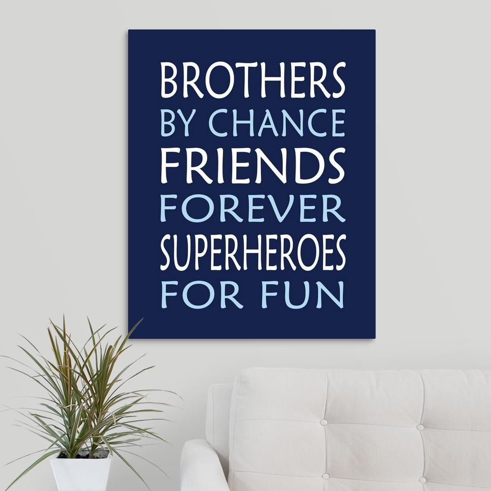 Brothers Superhero By Tamara Robinson Canvas Wall Art Multi Color Diy Canvas Wall Art Wall Canvas Superhero Wall Art