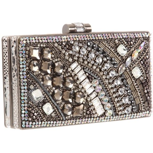 Mary Frances 11-408 Movie Star Clutch ❤ liked on Polyvore featuring bags, handbags, clutches, purses, carteras, filler, handbags clutches, leather hand bags, beaded purse and beaded handbags