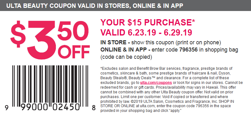 Ulta Beauty 20 Of Item Printable Coupon Ulta Coupon Jcpenney Coupons Retail Coupons