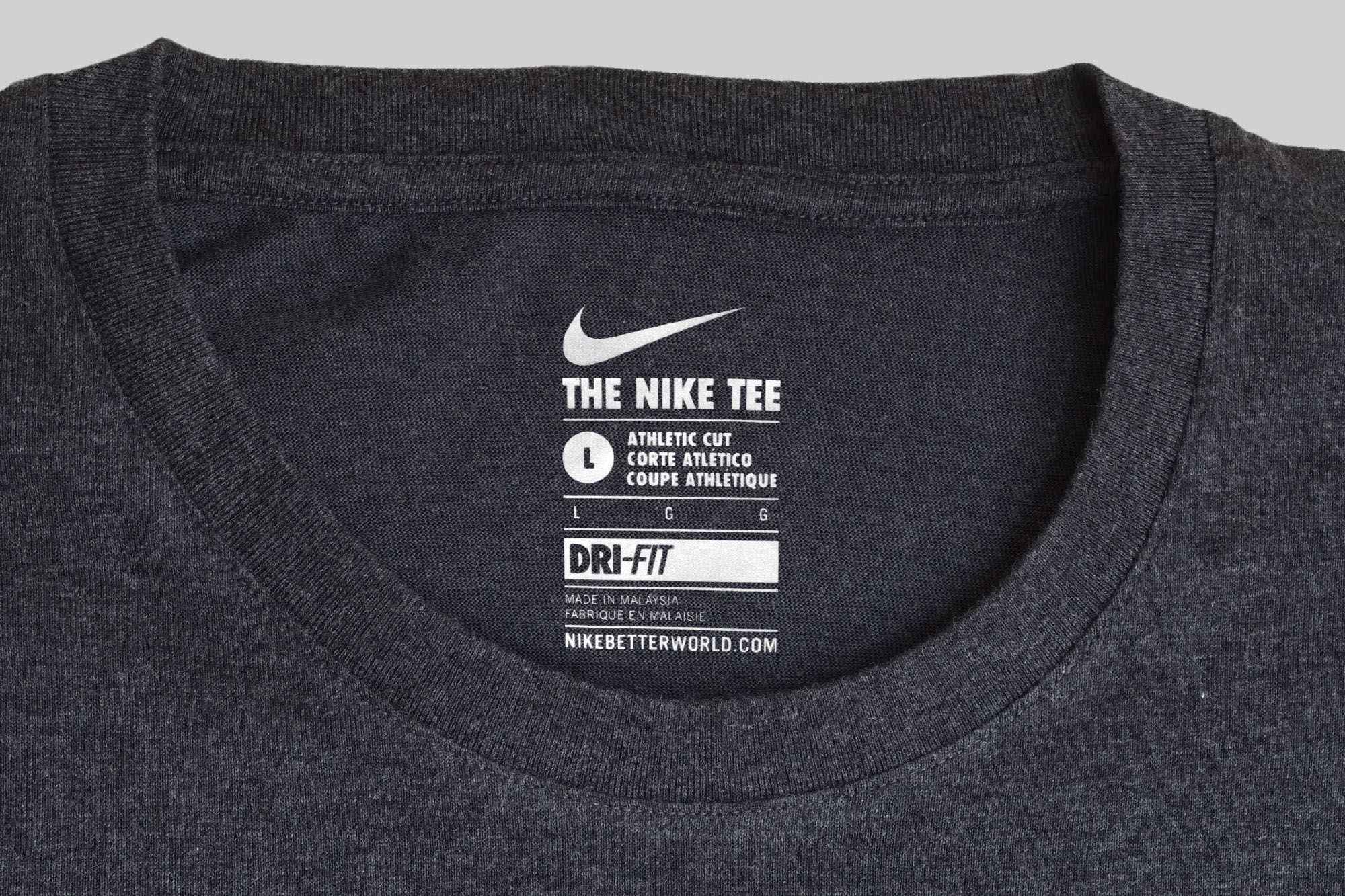 Global Communication And Neck Label System For Nike Apparel The Hierarchy Of Information Was Designed To Clothing Labels Design Clothing Labels T Shirt Label