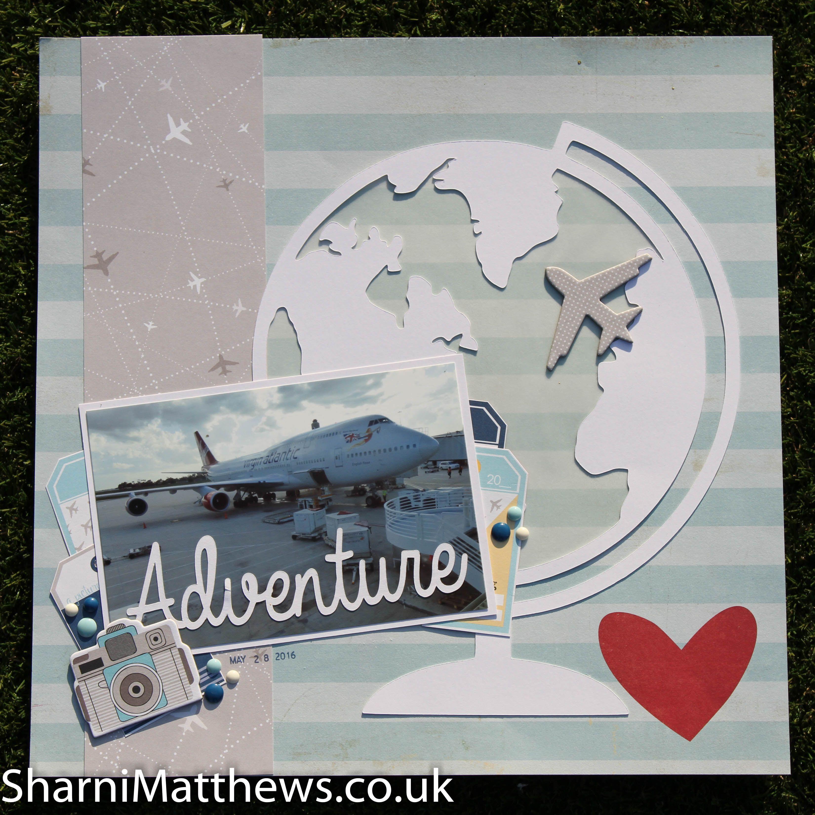 Scrapbook ideas adventure - 12 X 12 Scrapbook Layout Adventure America 2015 Bella Blvd Lets Go
