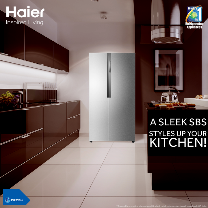 Haier\'s new premium style SBS-Side by Side #Refrigerator will ...