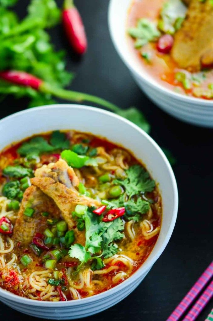 This Ultimate Thai Curry Chicken Noodle Soup is spicy, rich, creamy, easy and quick to make for all occasions. Full recipe