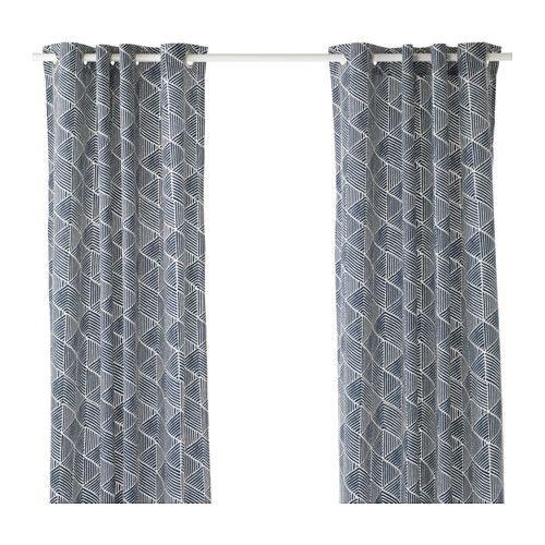 ikea nunner rt gardinenpaar die gardinen aus schwerem stoff schirmen licht effektiv ab und. Black Bedroom Furniture Sets. Home Design Ideas