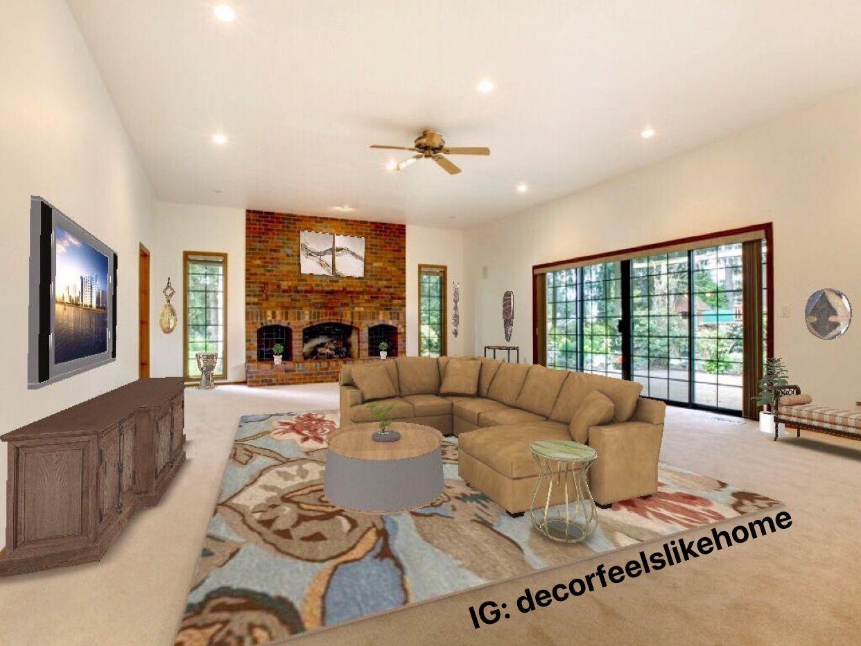 #virtualdesign #livingroomdesigns