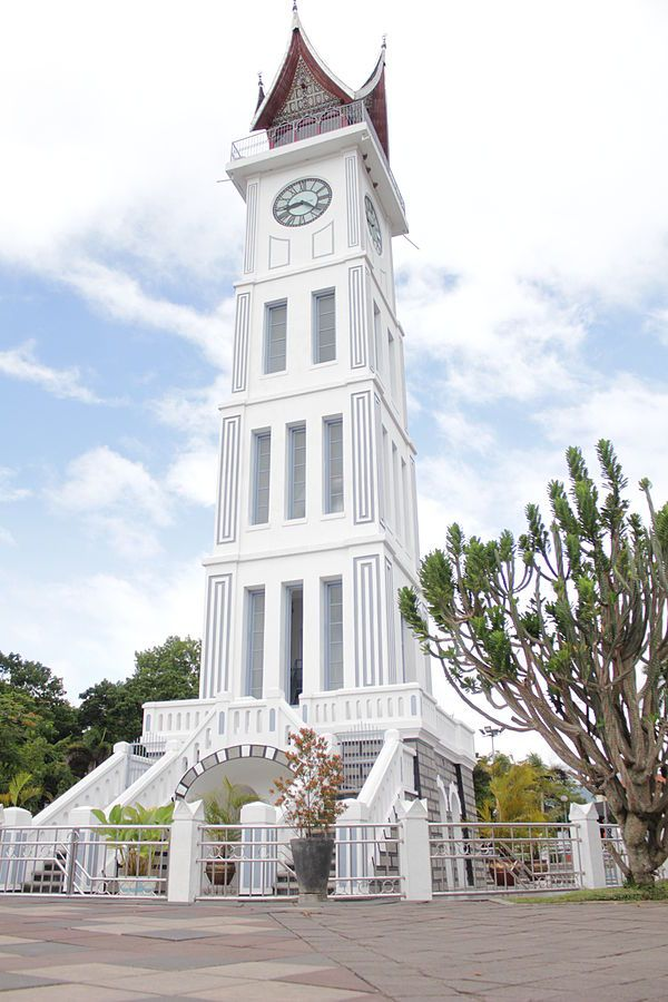 "Interesting House Exterior Design In Kulai Malaysia: Jam Gadang (means ""Big Clock"") ~ Bukittinggi, West Sumatra, Indonesia"