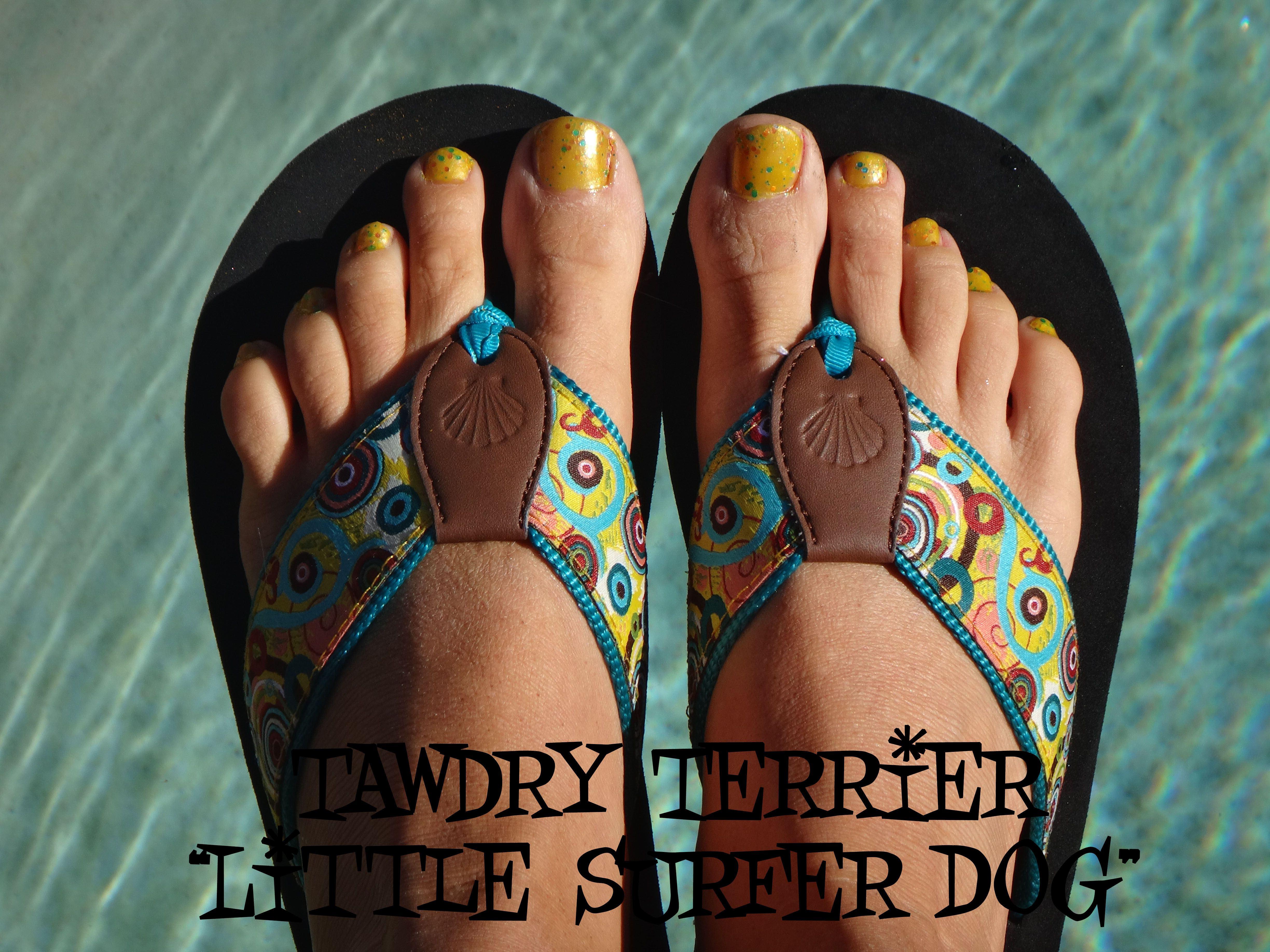 "@TawdryTerrier ""Little Surfer Dog"" - available at https://www.etsy.com/shop/TawdryTerrier #nailpolish #indienailpolish #tawdryterrier"