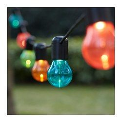 Solvinden Led Light Chain With 12 Lights Outdoor Multicolor Ikea Led Outdoor Lighting Lighting Chains Ikea Outdoor