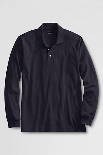 Men's Long Sleeve Peruvian Pima Polo Shirt from Lands' End - $39.00 I've got this one in Currant, and True Navy. Awesome during the cooler months of the year. #WishPinWin