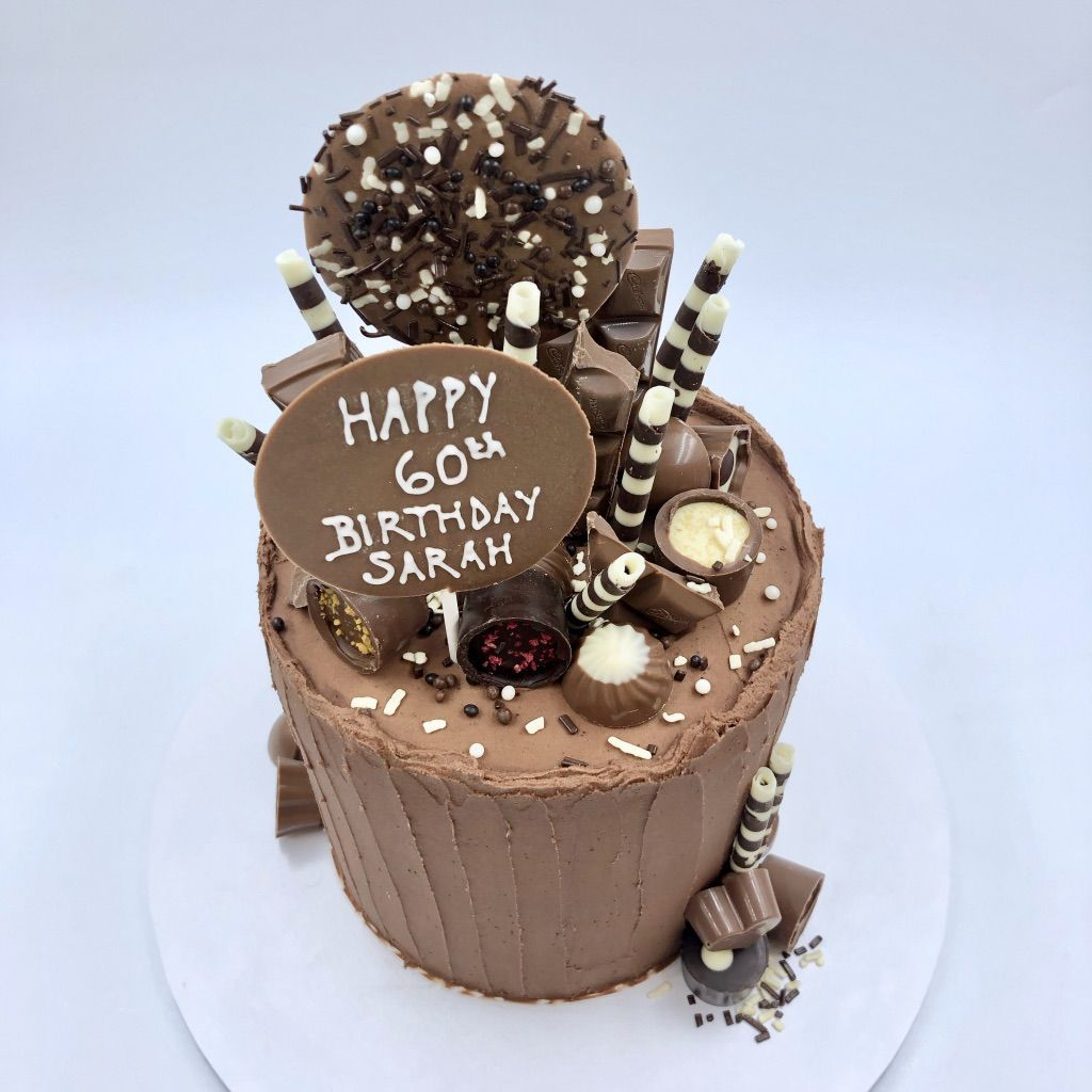 Deliciously chocolatey birthday cake. One of our most