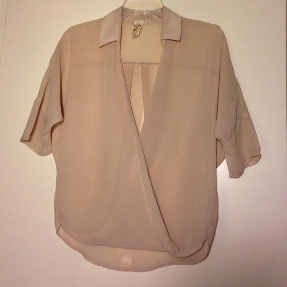 Sheer tan blouse Sheer tan blouse Tops Blouses
