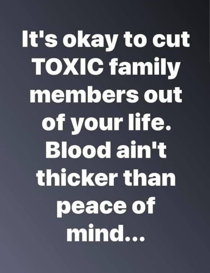 Cut out Toxic people