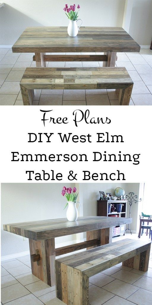 Superieur Knockoff West Elm Emmerson Dining Bench | Dining Bench, Bench And Wood  Projects