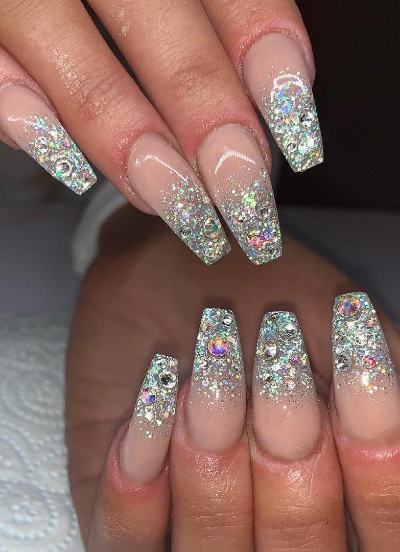 21 Fabulous Glitter Nail Design Ideas for This Year 2019