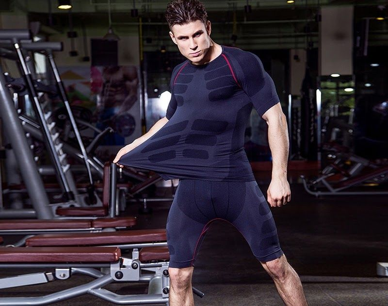 Yuerlian Compression Tights Demix Tracksuit Quick Dry Mens Sportswear Gym Running Set Short T-shirt Shorts Fitness Sport Suit Video Surveillance