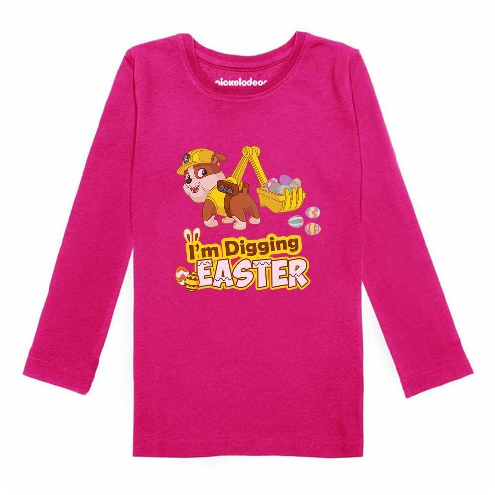 Paw Patrol Rubble I/'m Digging Christmas Tractor ToddlerKids Sweatshirt