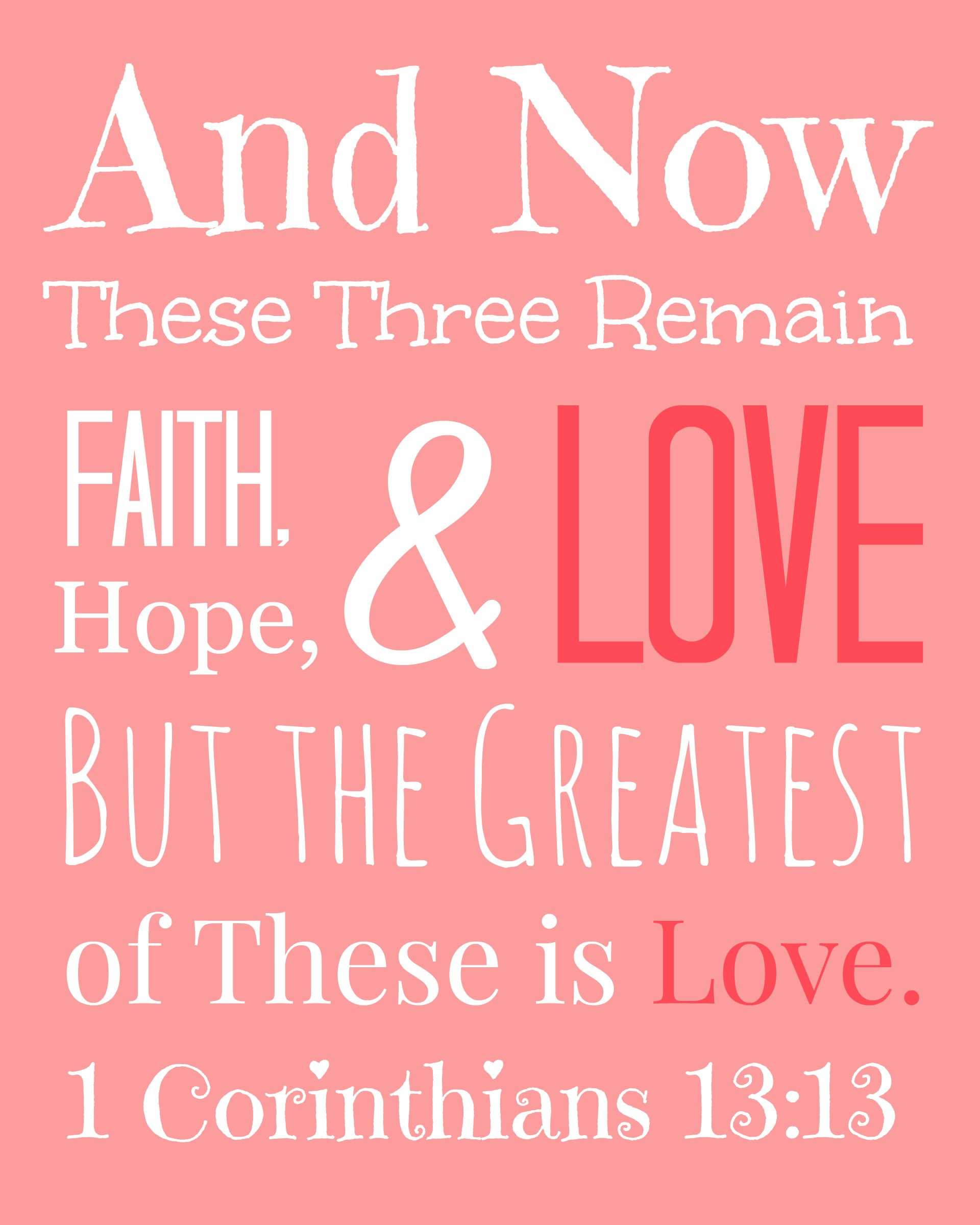 Corinthians Love Quotes Love Bible Verses  1 Corinthians 1313  The Well Nourished Nest